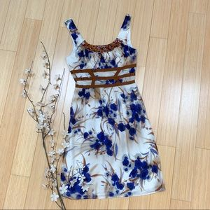 Anthropologie BURLAPP watercolor dress, S.